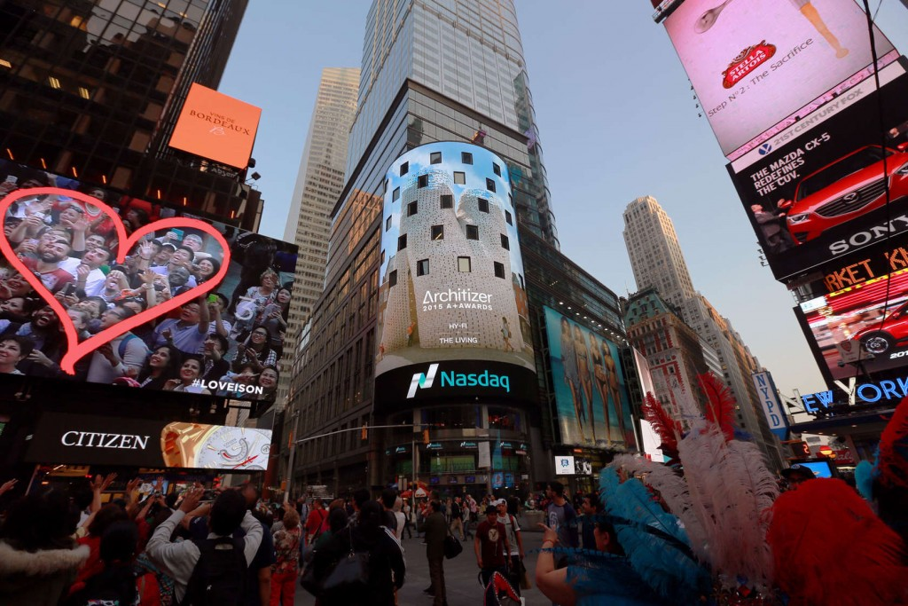 2015 A+Awards Times Square Image