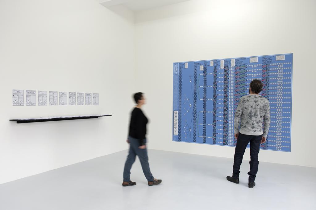 Installation de Lawrence Abu Hamdan « Conflicted Phonemes », 2012. Courtesy de l'artiste et Galerie Mor Charpentier. Photo : Marc Domage.