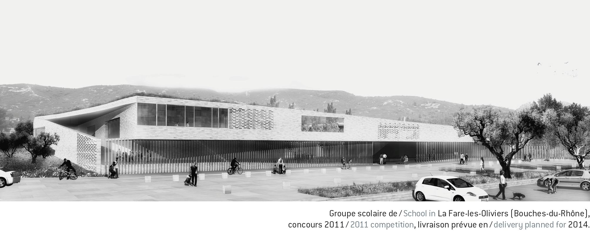 l 39 architecture d 39 aujourd 39 hui avant apr s groupe scolaire des agences at dsa l. Black Bedroom Furniture Sets. Home Design Ideas
