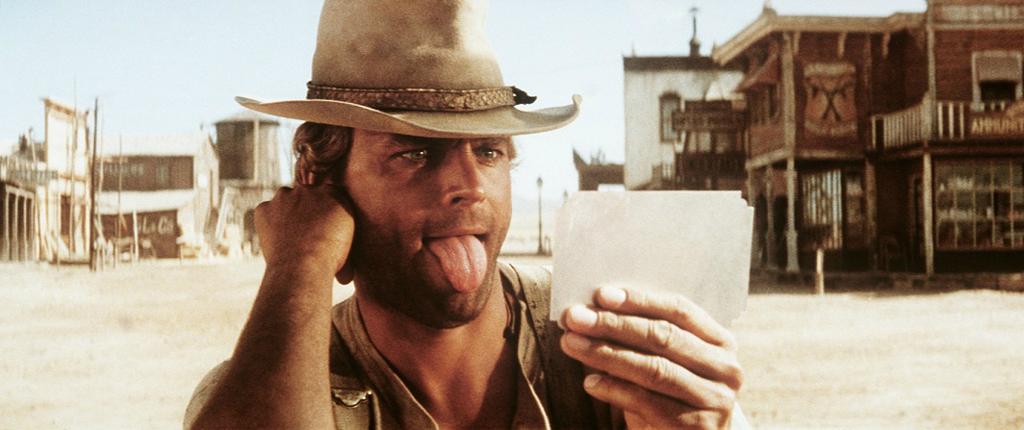 """Terence Hill dans le film """"Mon nom est personne"""" de Tonino Valerii, 1973. © DR"""