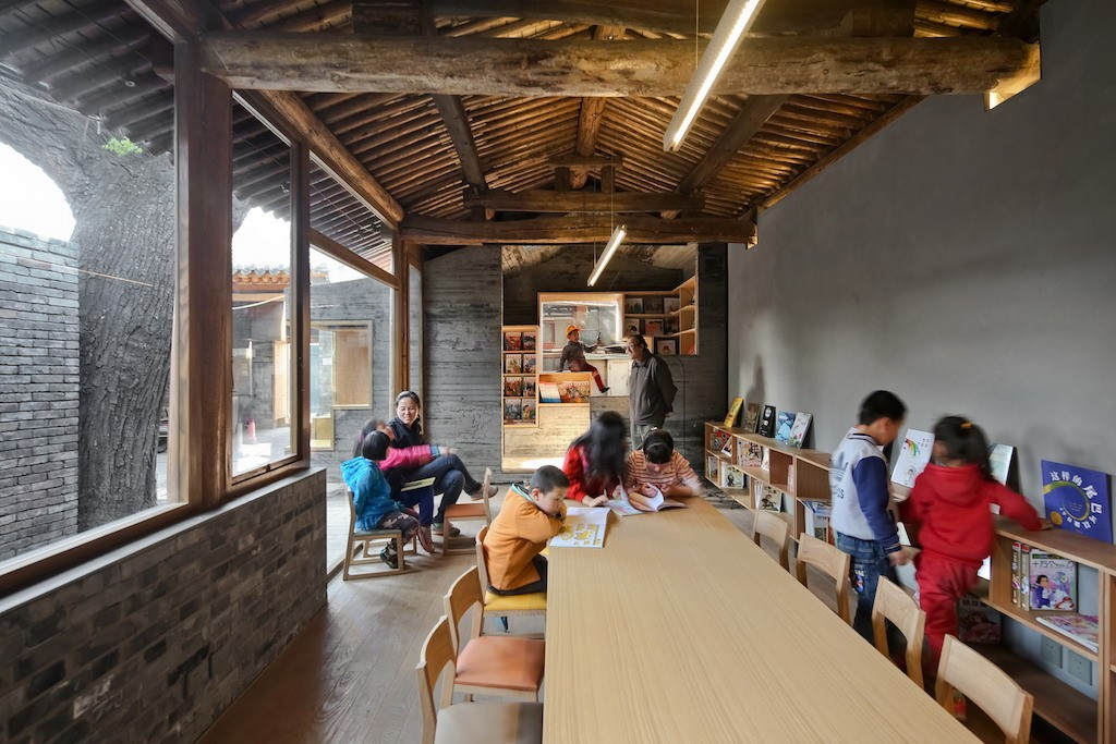 Bibliothèque et centre d'art dans un Hutong à Pékin