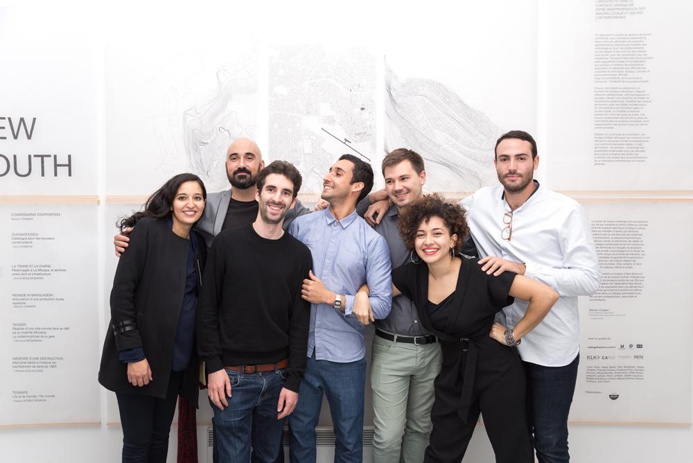 Equipe du collectif New South, Paris, novembre-2015 ©Pierre Serron