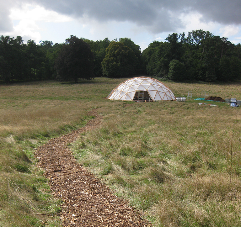 Geodesic Dome for POC21, D.A.T. Pangea