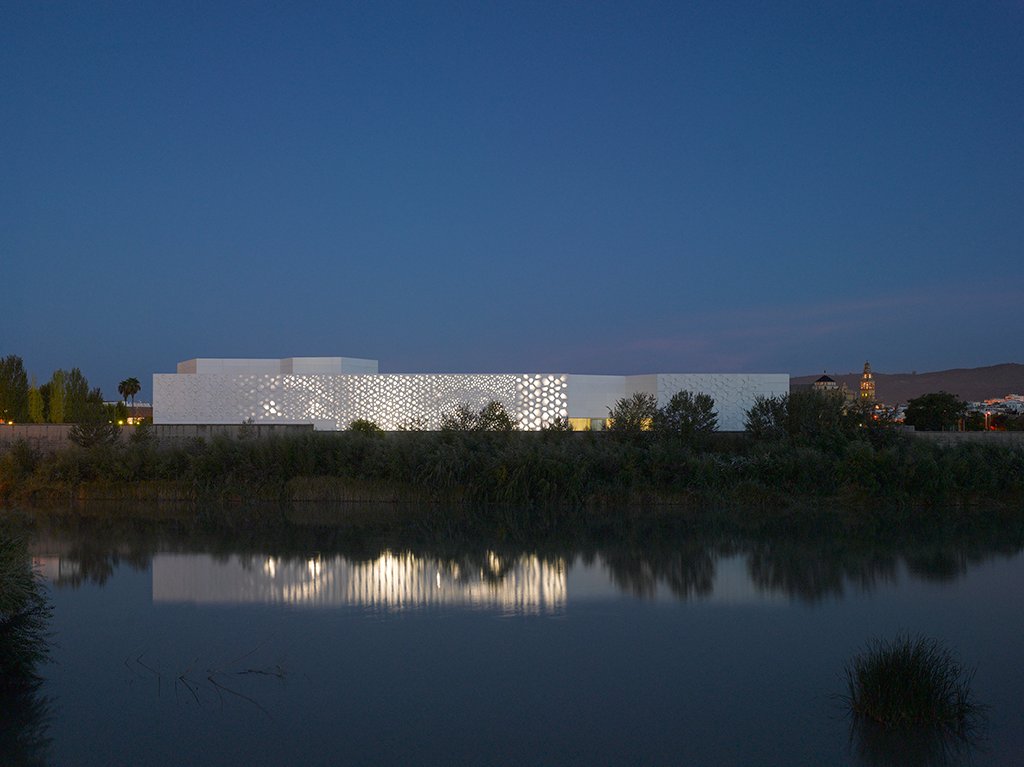 © 2012-13 Roland Halbe by courtesy of Nieto Sobejano Arquitectos. Opened in 12/2016 the C3A public Art Centre by Nieto Sobejano Architects features a dynamic façade design by realities:united.