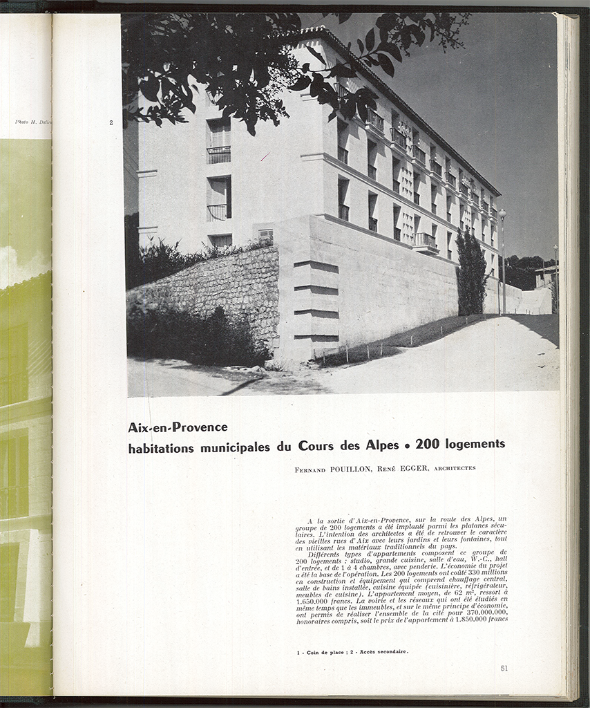 Archives of Techniques and Architecture, n ° 7-8, 1954, p.51-53. © L'Architecture d'Aujourd'hui