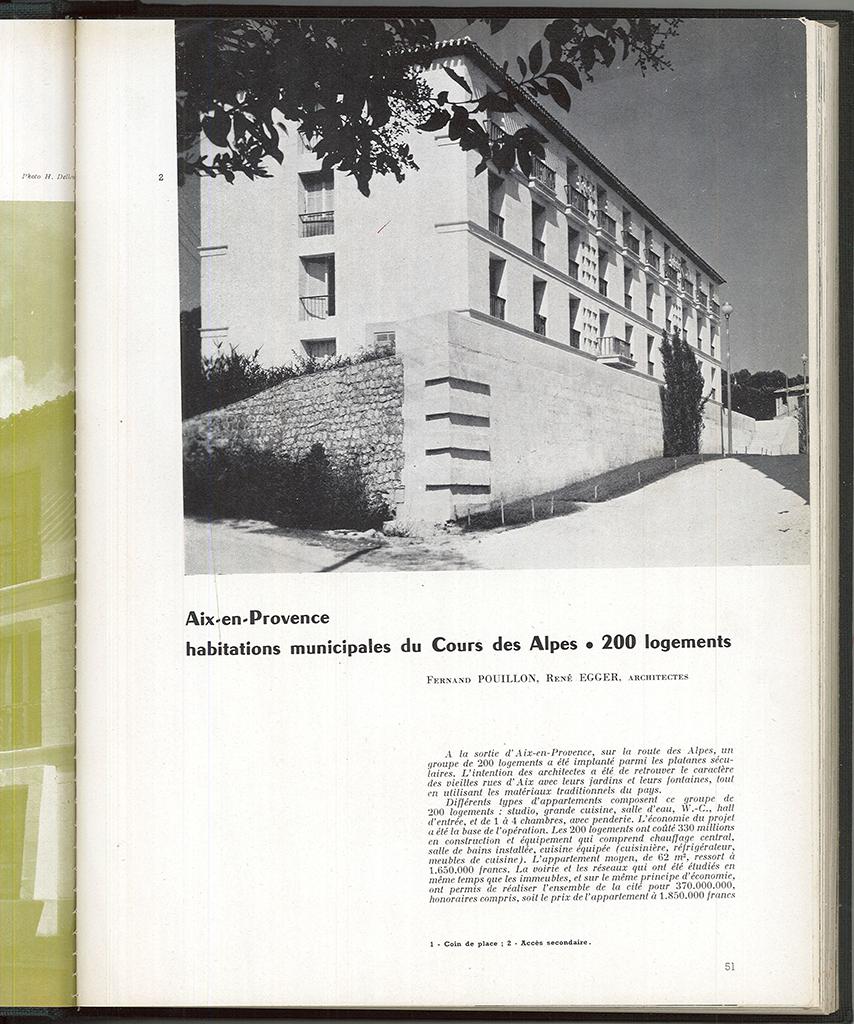 Archives of Techniques and Architecture, n ° 7-8, 1954, p.51-53. © L'Architecture d'Aujourd'hui