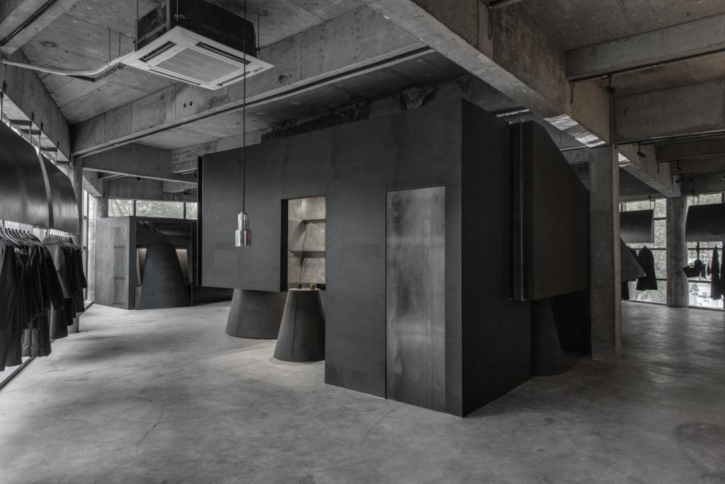 © AN Design, Black Cant System - HEIKE fashion brand concept store, Hangzhou, China