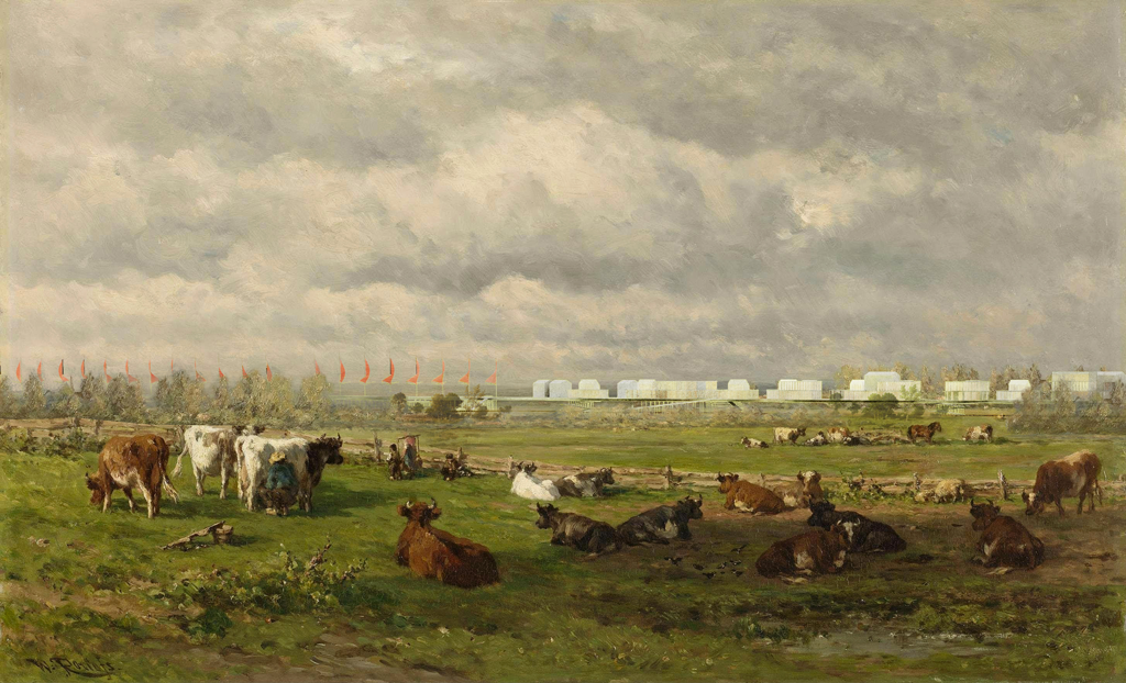 © studioakkerhuis - après la pluie - aia environnement - atelier gantner Perspective : D'après «Weidelandschap met vee», Willem Roelofs