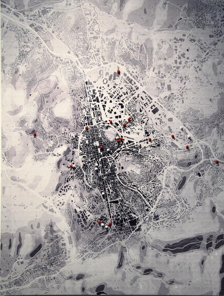 Cartographie exposée © Agathe Montel