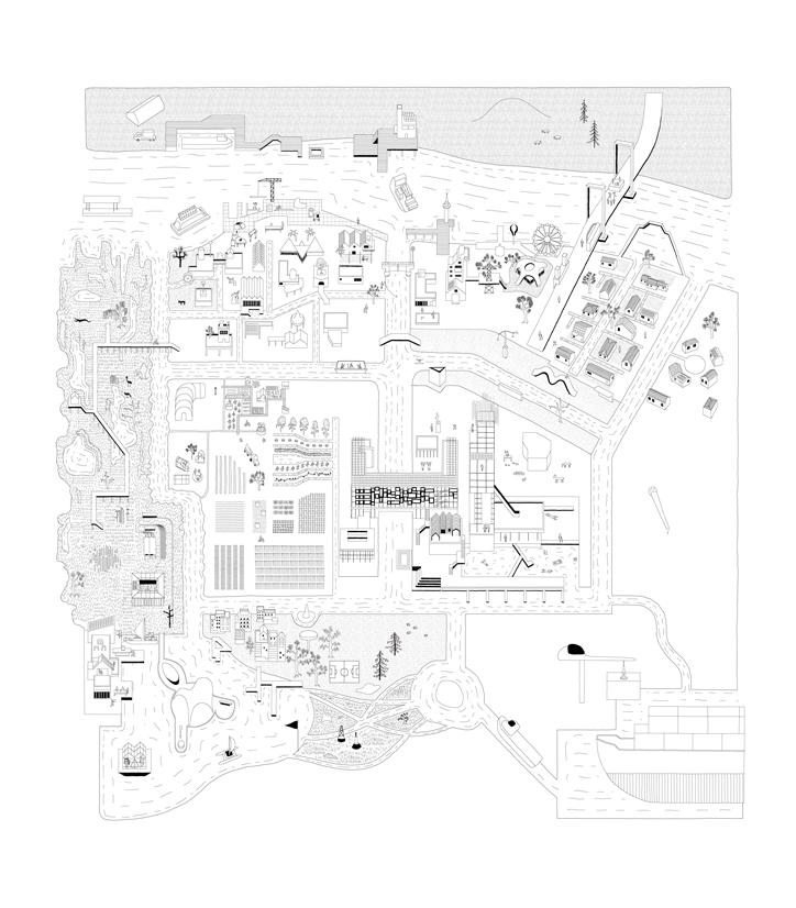 Illustration des échanges © Thomas Sindicas, Atelier Architecture Vincent Pariera AVVP