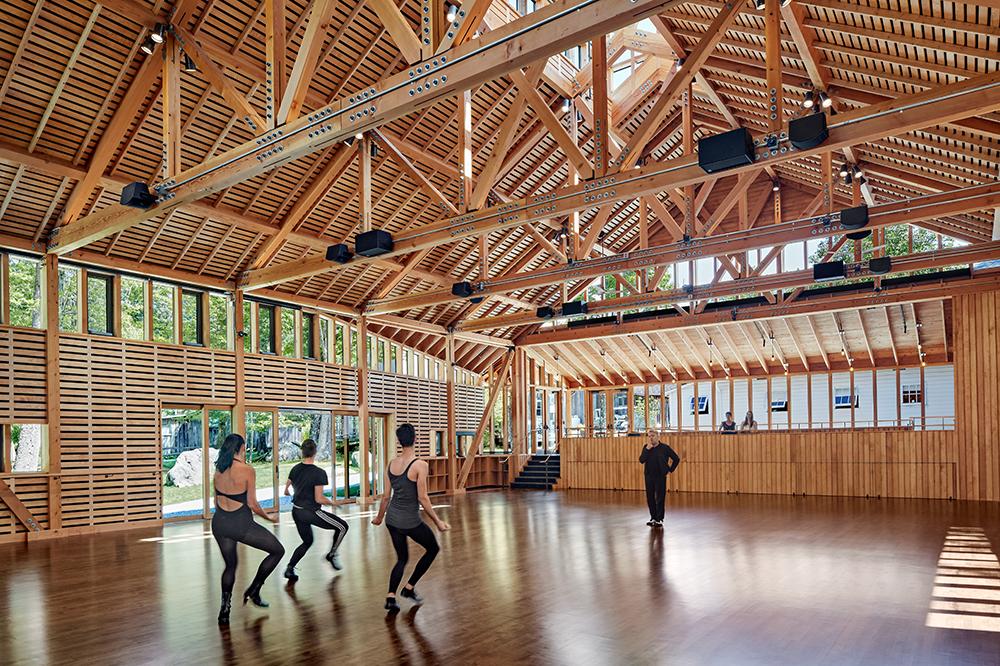 Perles Family Studio, Jacob's Pillow Dance Flansburgh Architects, © Robert Benson Photography