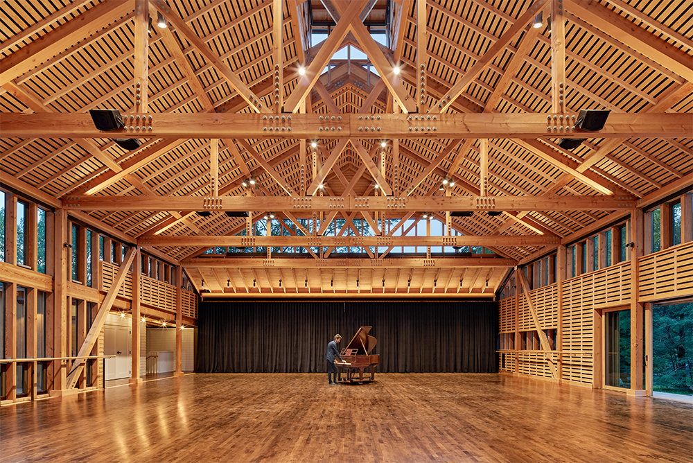 Perles Family Studio, Jacob's Pillow Dance Flansburgh Architects, © Robert Benson Photography