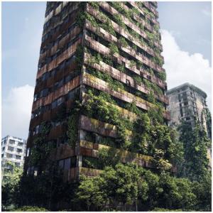 Légende de l'auteur : Une ruine une vraie. Belle parce que vraie. Source : 3D TUTORIAL: MAKING OF POST APOCALYPTIC CITY RUINS stayinwonderland.com