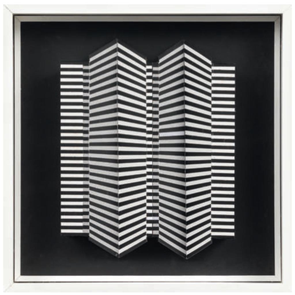 Sérigraphie sur carton, collage et acrylique, 46,4 x 46,4 x 7 cm. © Ludwig Wilding