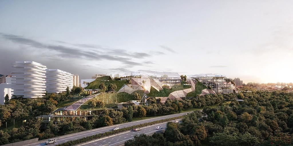 Projet Ecotone à Arcueil, Lauréat d'Inventons la Métropole du Grand Paris Avec Duncan Lewis Scape Architecture + Parc Architectes + OXO Architectes © Triptyque