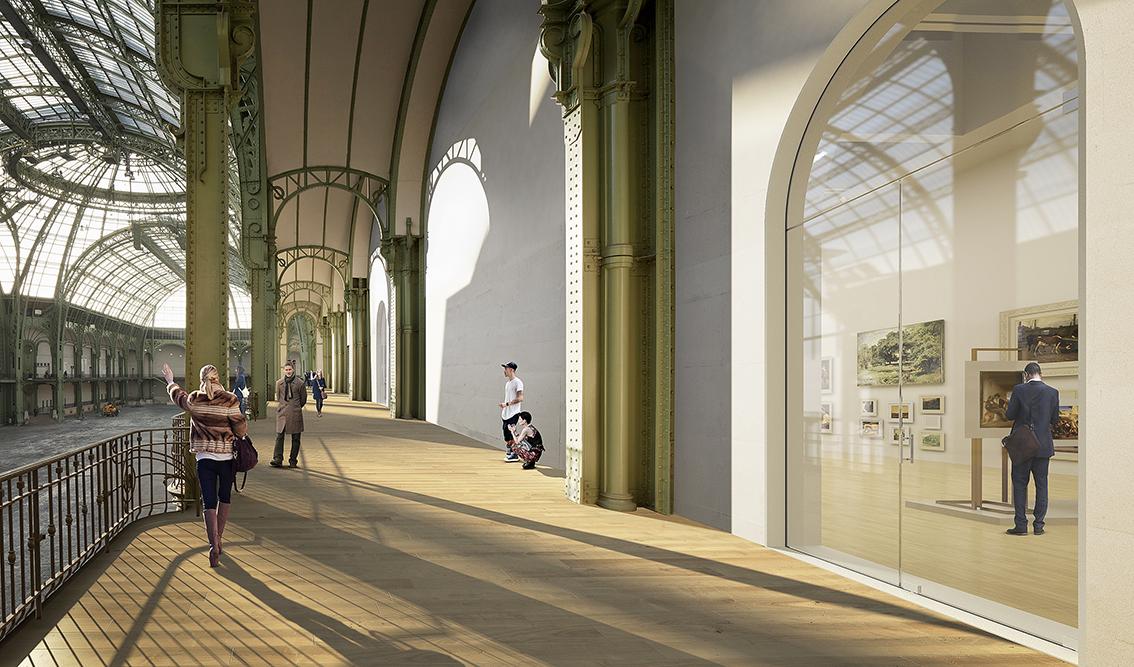 L 39 architecture d 39 aujourd 39 hui une rue int rieure pour la for Architecte grand palais