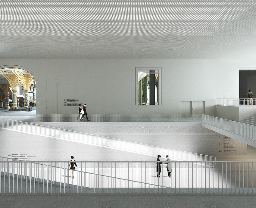 Grand Palais, pont de la Rue des Palais, simulation 2018 © LAN