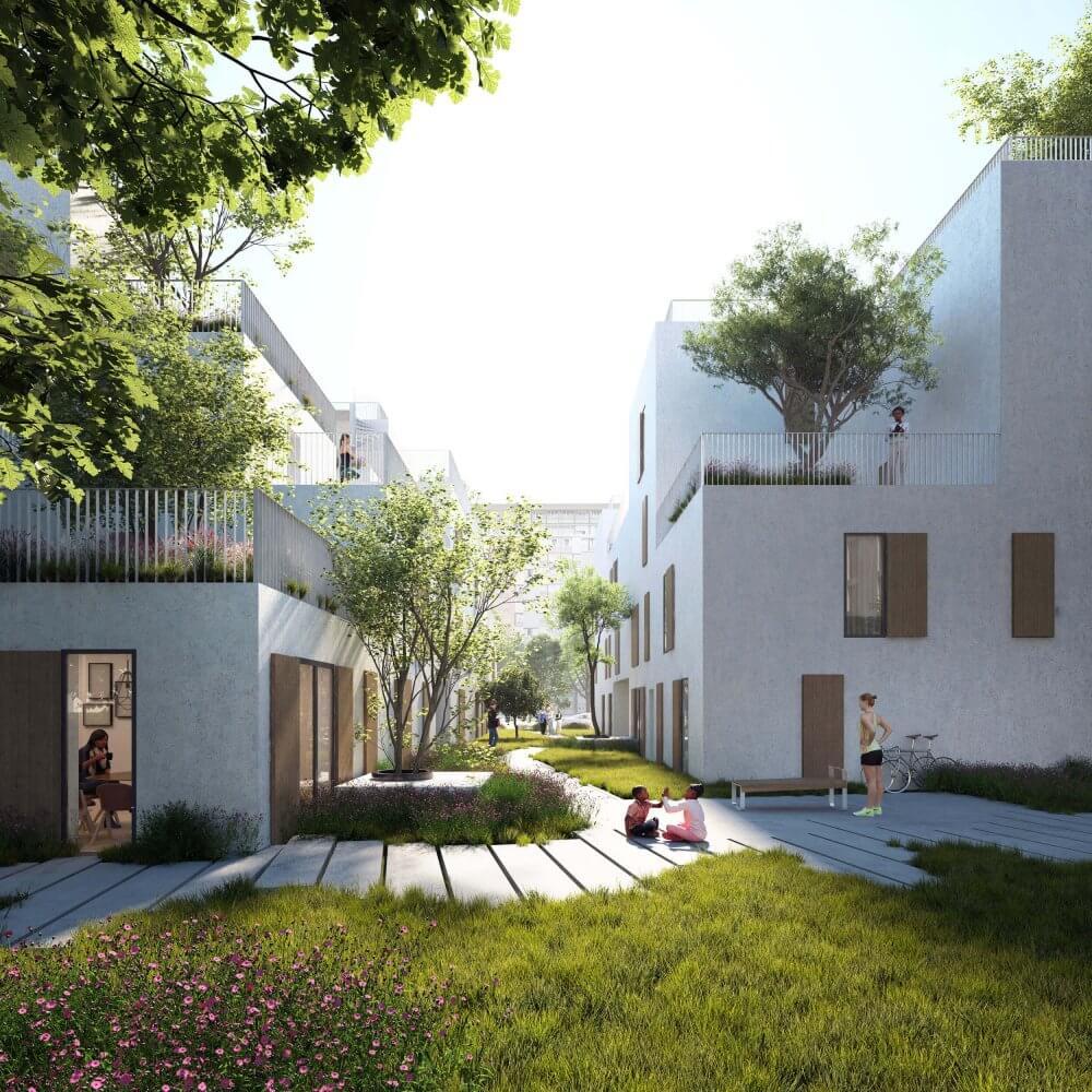 """""""Urbanature"""" - quartier Noue Caillet à Bondy © Maud Caubet Architectes"""