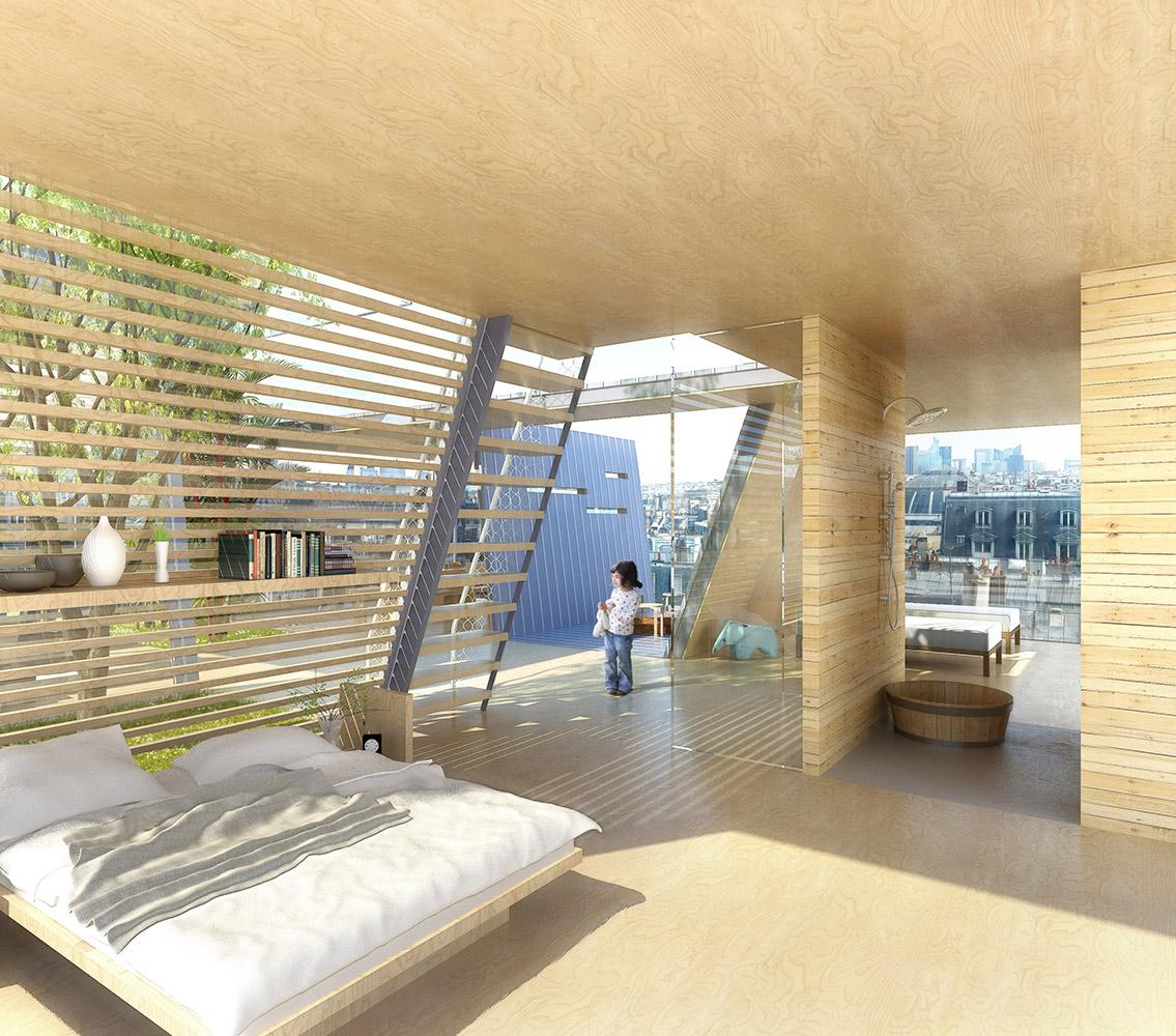 Maison sur le toît - Paris © Maud Caubet Architectes