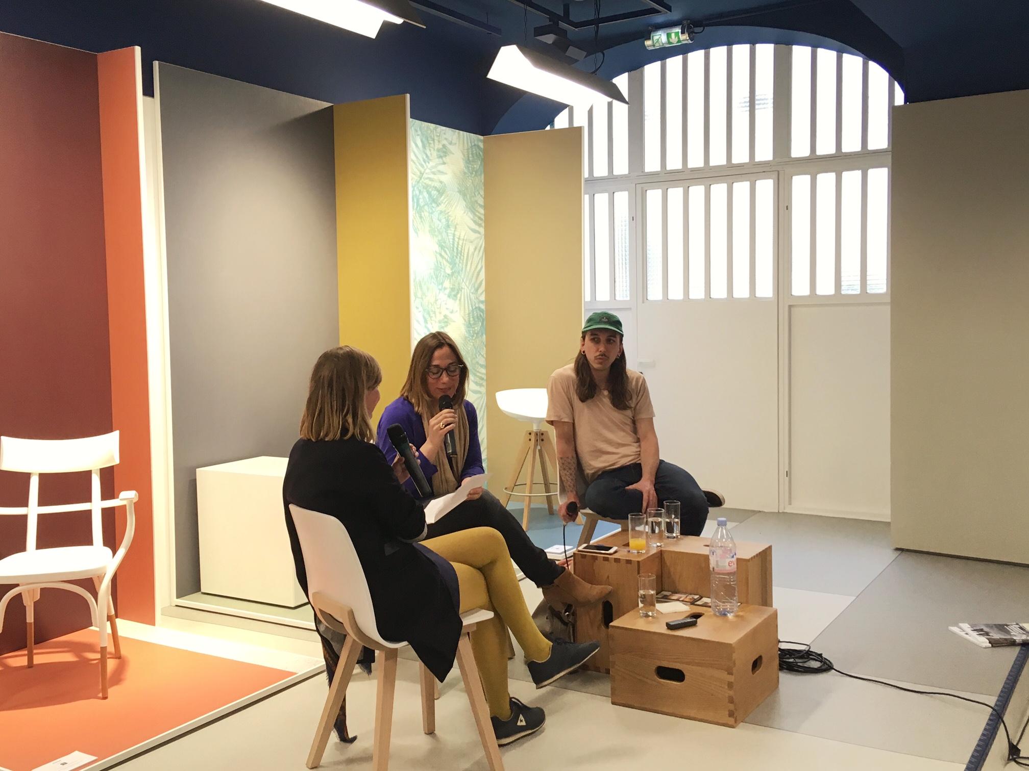 Ann Guillaume, Emmanuelle Borne et Guillaume Aubry lors de la soirée Affinités Créatives #2 © Caterina Grosso