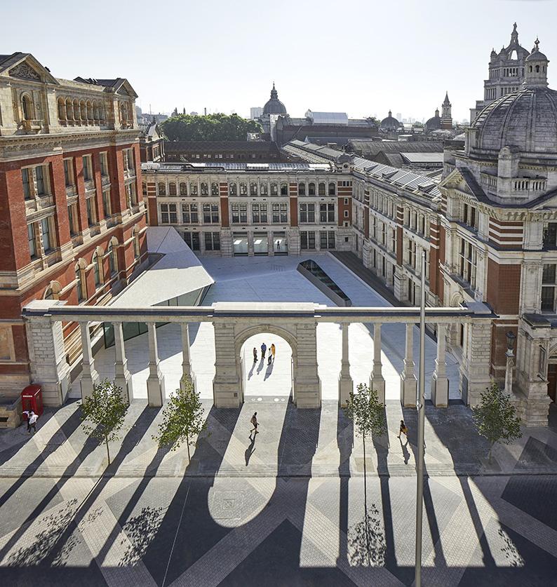 V&A Museum vue de l'Exhibition Road © Hufton+Crow