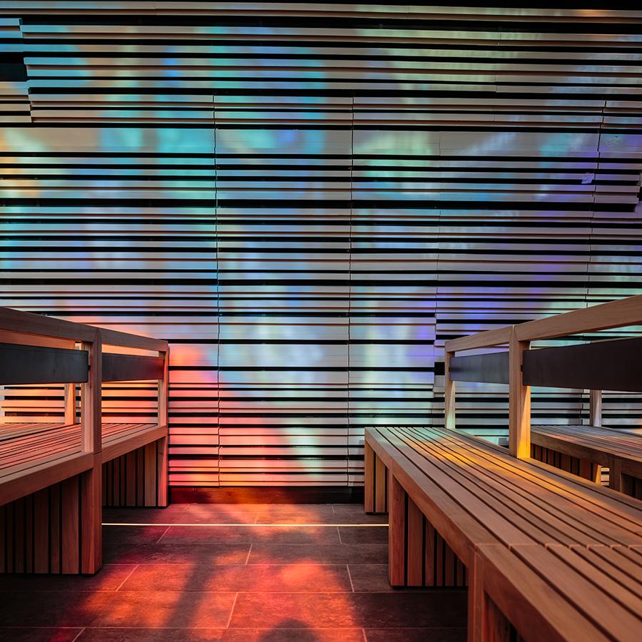 jeu de lumières - chapelle Sainte Catherine Labouré © A26 Architectures