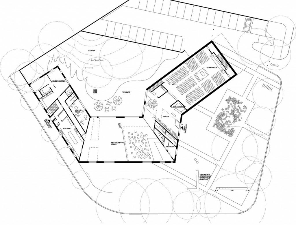 Plan du rez-de-chaussée © Manuel Herz Architects