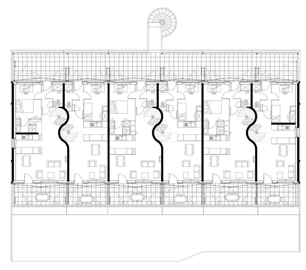 Plan du premier étage © Manuel Herz Architects