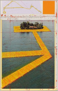 Floating Piers (Project for Lake Iseo, Italy) © Christo