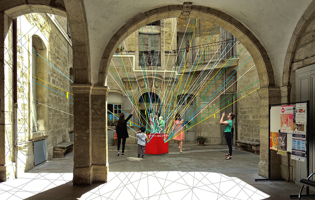 Installation 4 : Black Network © Lise Garcia, Jordan Llanos, Valentin Sambardy