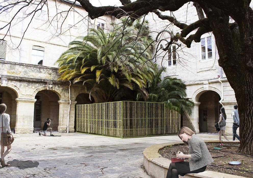 Installation 8 : Les 1000 Bambous © Co-conception Rectorat ENSAM FAV