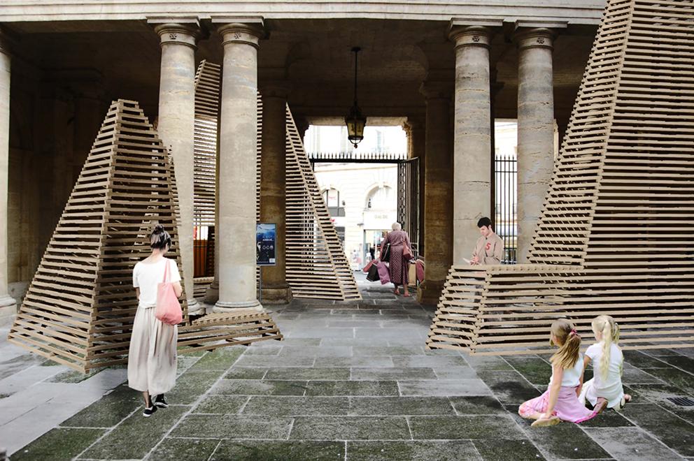 Pavillon du FAV : Prisme © Atelier vecteur + Jose Luis Torres + Karole Biron