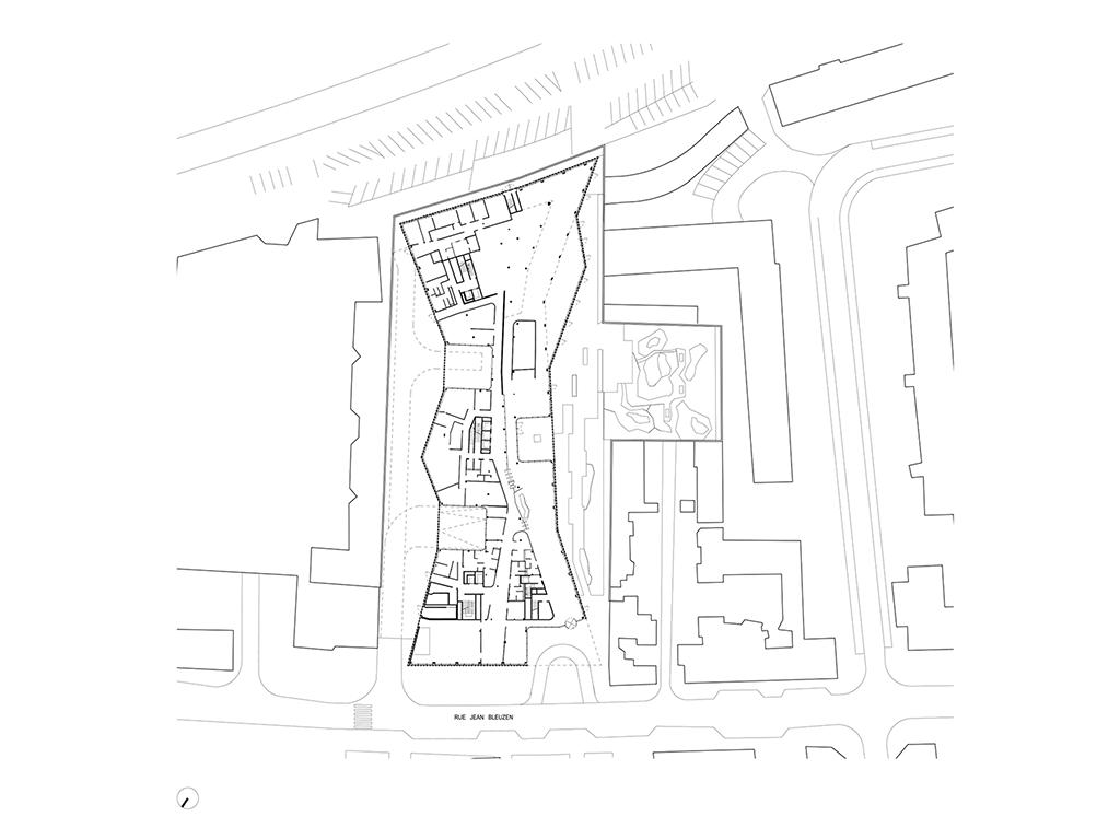 Plan du rez-de-chaussée © Jacques Ferrier Architecture