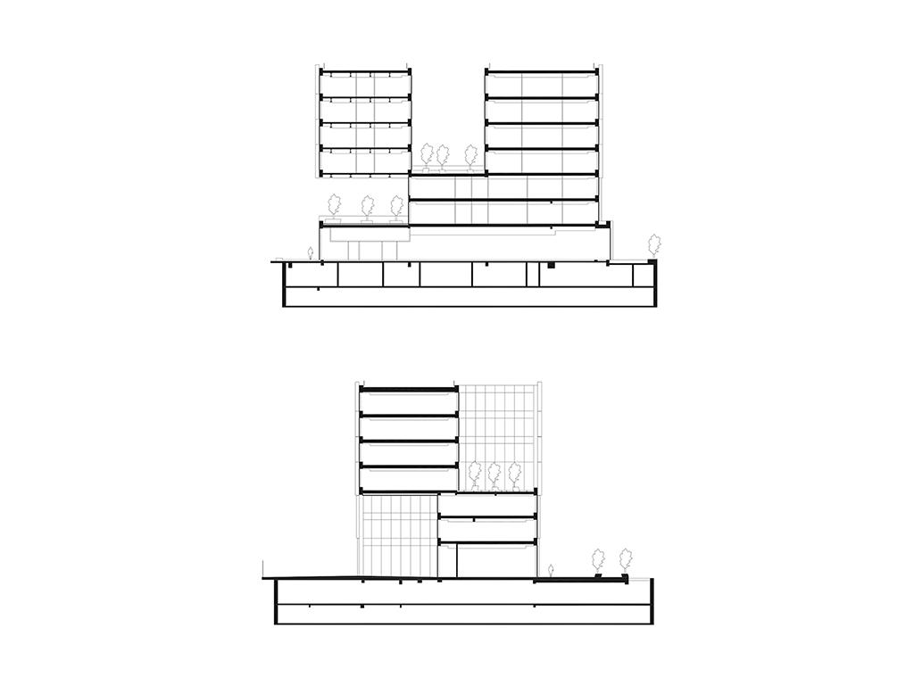 Coupes transversales © Jacques Ferrier Architecture