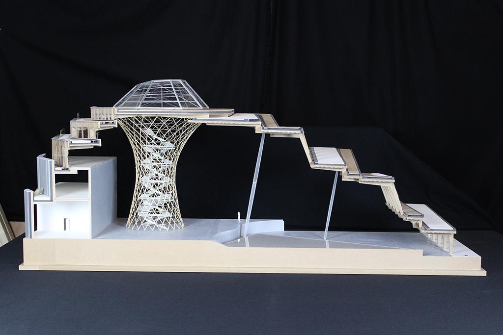 Maquette-coupe - Jacques Ferrier Architecture © Hugo Deniau