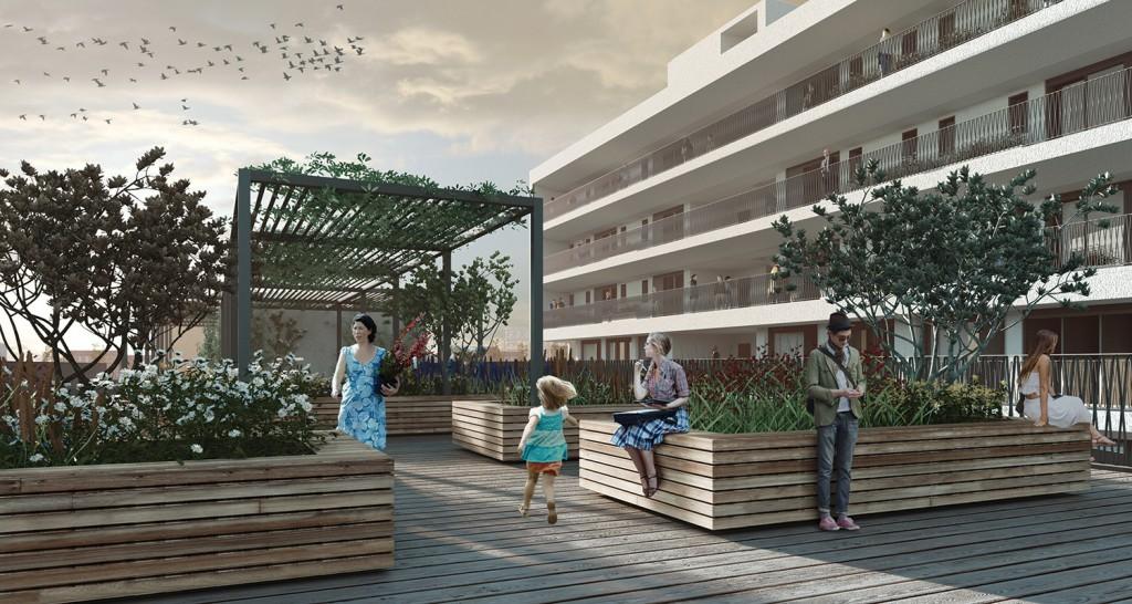 Projet de logements, Milan (Italie), livraison 2020 © Marco Tripodi