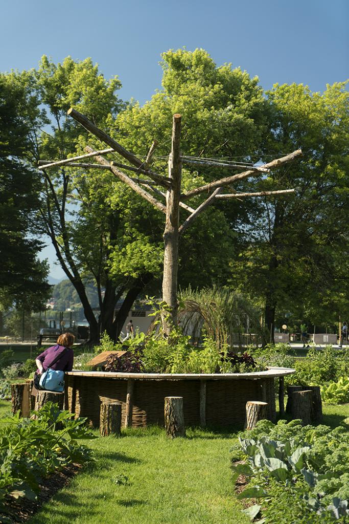 Un potager dans la ville, collectif Cultures Urbaines ©Marc Domage