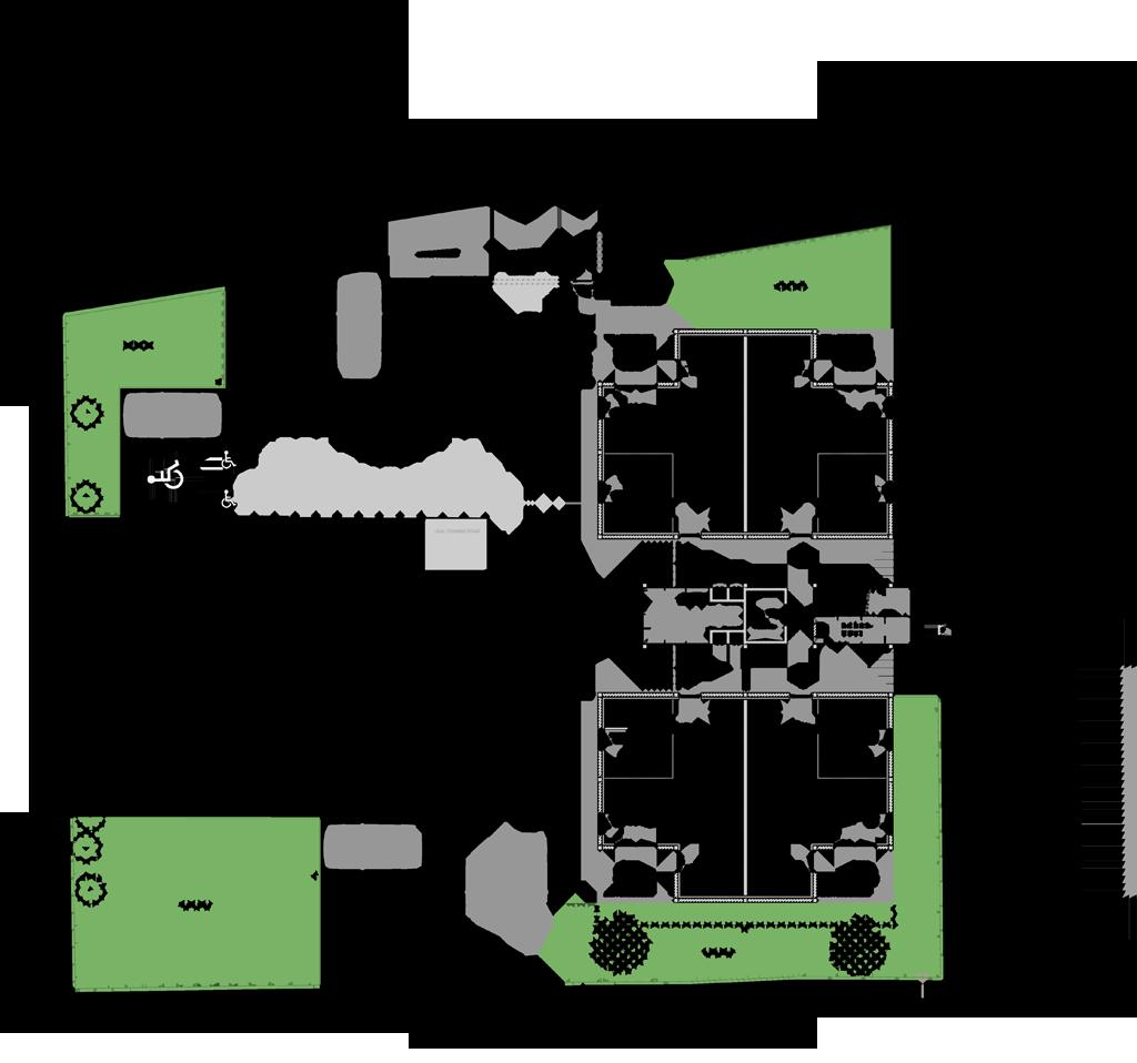 Plan du rez-de-chaussée © LS Architectures