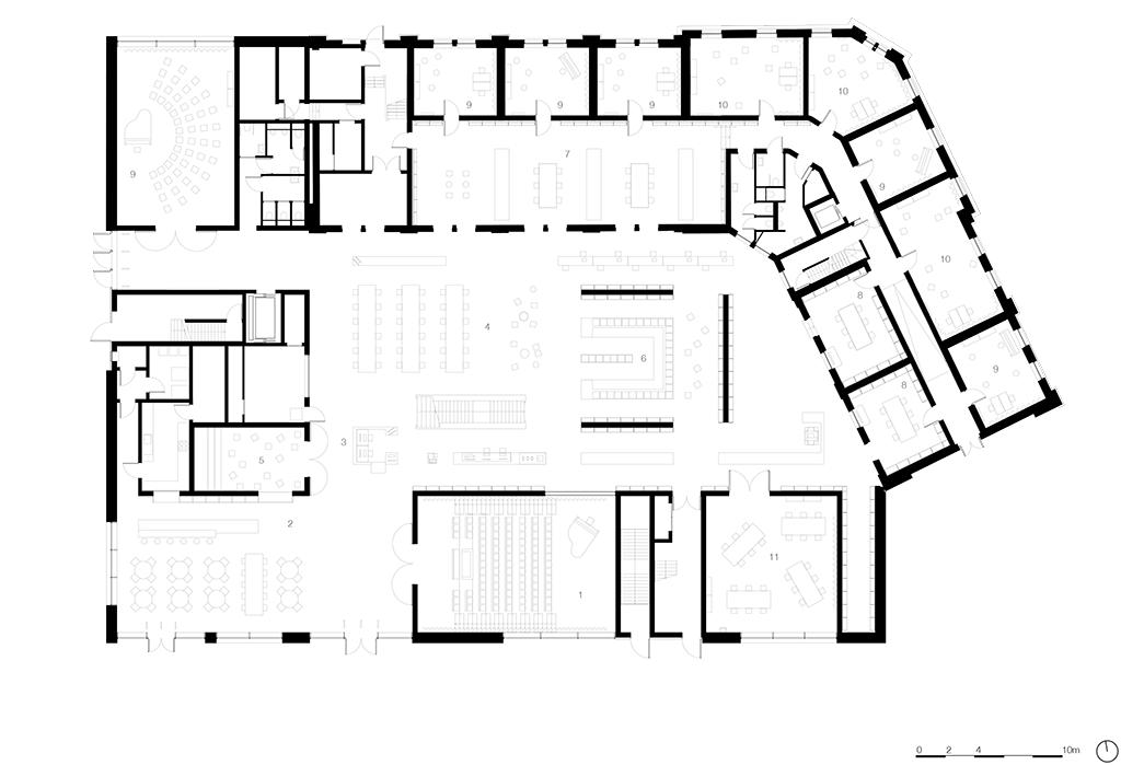 Plan du rez-de-chaussée © KAAN Architecten