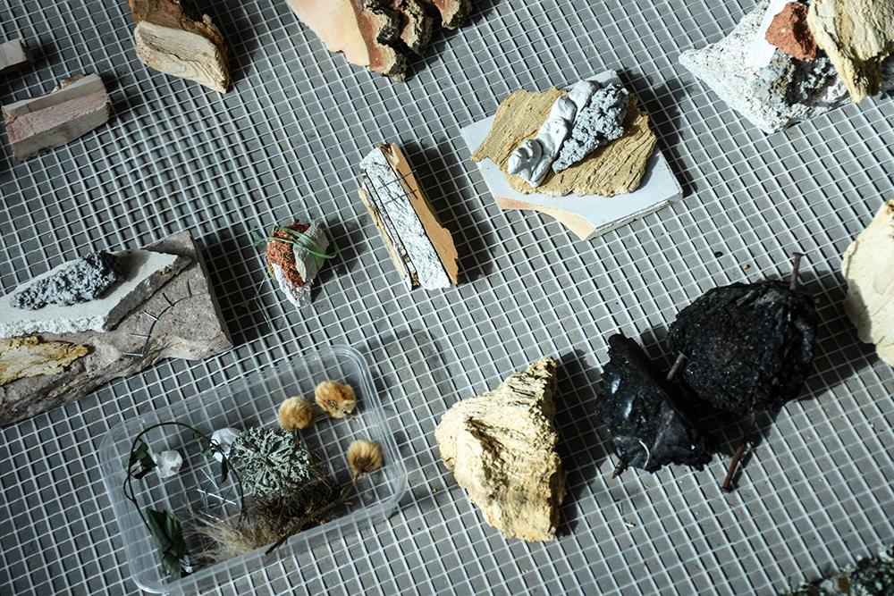 Atelier de Lex Pott et Nomess portant sur le design inspiré d'éléments naturels ©CIRECA_Domaine de Boisbuchet