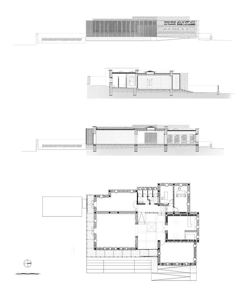 Centre Culturel Ait Ouabelli, plans © Salima Naji