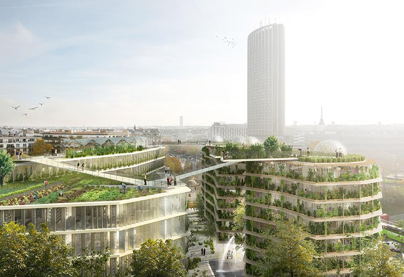 La ville multi-strates, Ré-inventer Paris (17e) © Jacques Ferrier Architecture, Chartier Dalix