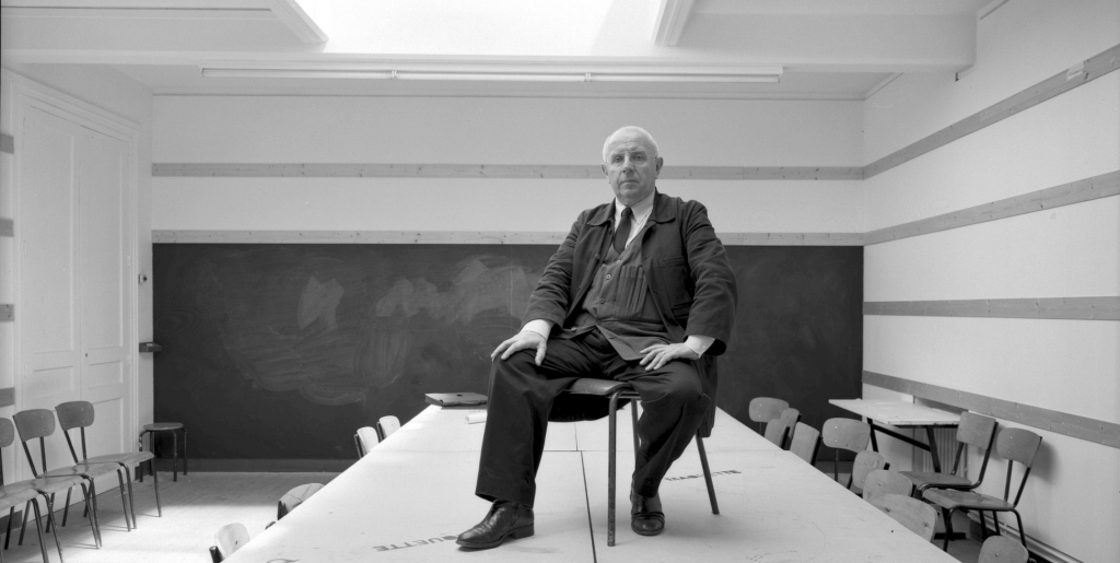Paul Virilio en 1993. © DESPATIN GOBELI / Opale / Leemage