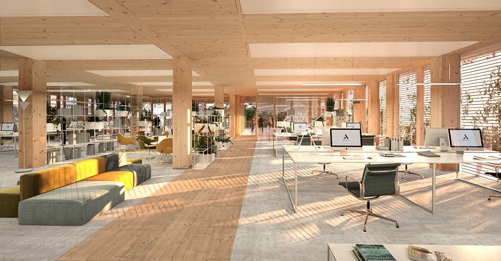 © Nicolas Laisné Architectes - Dimitri Roussel - Franco is Leclercq - Arboretum, intérieurs, Nanterre
