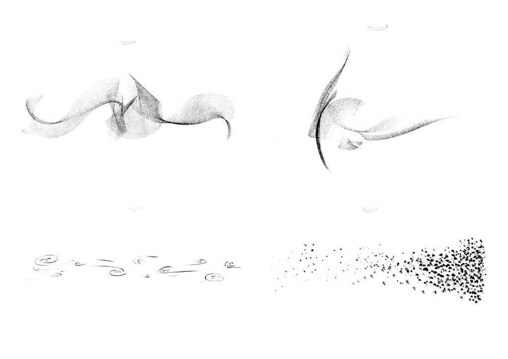 Spatialization drawing, - Barracks © Nicolas Frize – RHIZOME