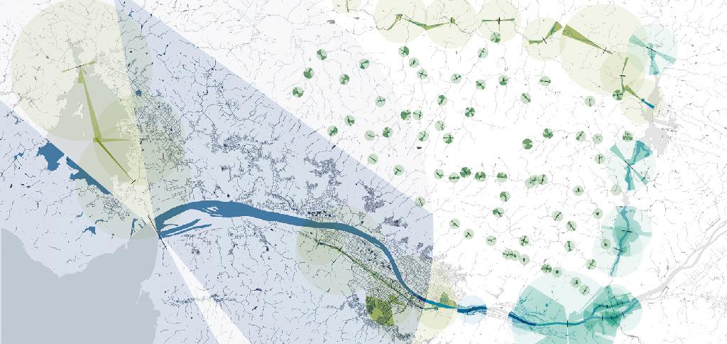 Études pour la métropole Nantes-Saint-Nazaire, 2014 © Agence Ter