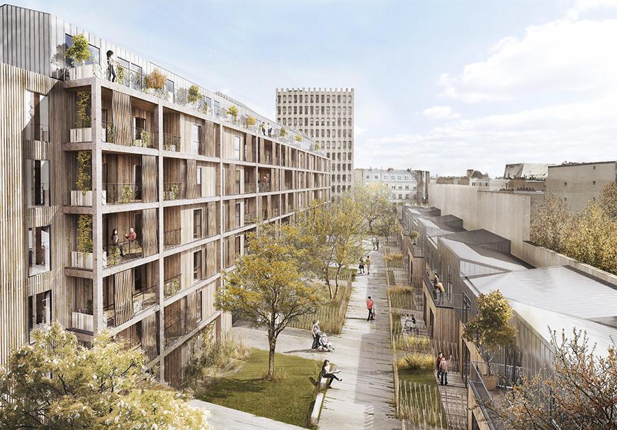 83 logements en accession, 74 logements sociaux et un espace commercial, Paris XI, 2020. ©Archi5