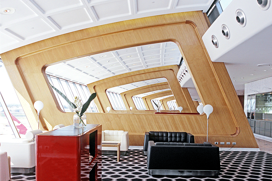 Qantas First Lounge, en association avec Marc Newson, Sydney, 2007 © Thomas Bloch
