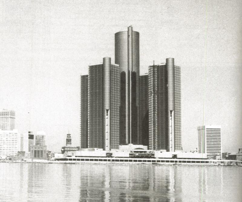 John Portman & Associates, Renaissance Centre, Détroit, 1977 © L'Architecture d'Aujourd'hui