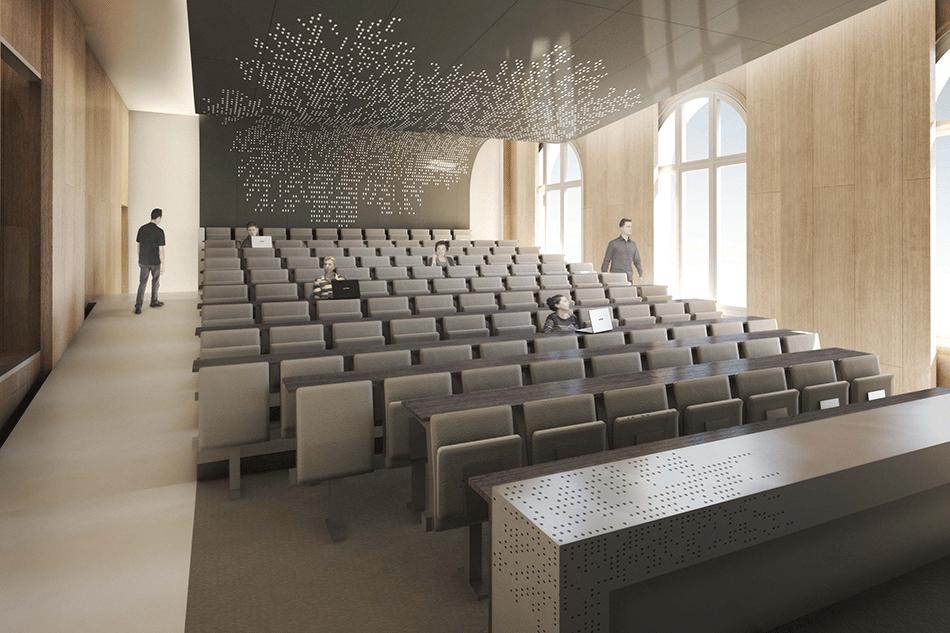 Auditorium école des mines, Paris, en cours ©Atelier Aconcept